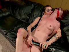 Jessi Palmer gets pulled by pussy lips and fucked with toys