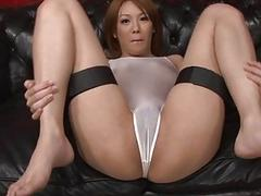 Asian shares her vagina in raucous group sex