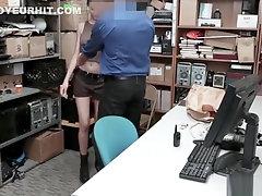 Shoplyfter Scarlett munching a mature cock!