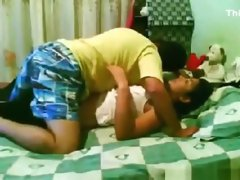 Lucky guy has a threesome with his latina gf and her best friend
