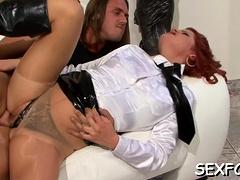Dressed females sharing wang in lustful xxx scenes