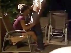 Outdoor banging his beautiful Latina shemale