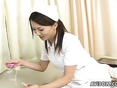 Cute nurse Yuki Touma gives head to handsome patient