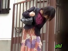 Glorious fiery hottie flashes her snatch when sharking chap lifts her long skirt