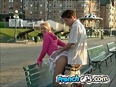 This French GF isn't ashamed of her body and she loves fucking in public