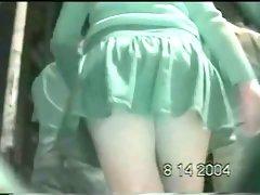 An upskirt voyeur video of heavenly juicy asses
