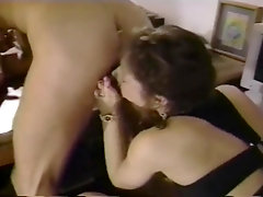 Retro Brunette Milf With High Heels Fucked In The Office