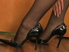 Pantyhose tearing to let cock in