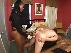 British Ebony MIstress Strapon