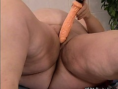 Nasty fat whore goes crazy dildo fucking part3