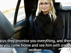 Nerdy amateur seduced by her taxi driver