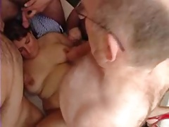 Gangbang and cum covered