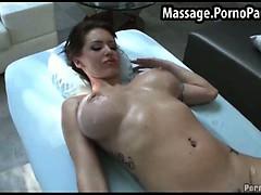 Busty babe needs a pussy massage