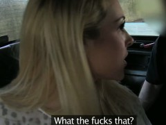 Big tits amateur blonde slut ripped for a free cab fare