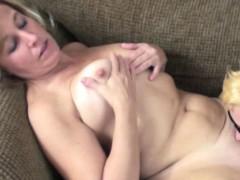 Mature slut Liisa gets fucked by horny lesbian Shelly